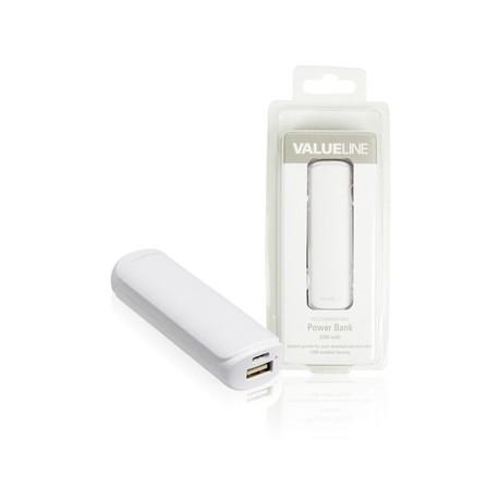 2200mAh compacte powerbank voor o.a. tablet en smartphone (wit)