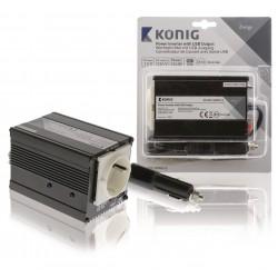 Konig Omvormer 12 - 230 V 150 W 1x schuko + 1x USB uitgang
