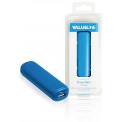 Compacte 2200mAh powerbank voor o.a. tablet en smartphone (blauw)