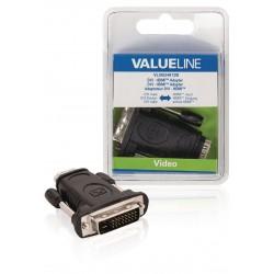 High Speed HDMI met Ethernet Adapter DVI-I - HDMI Female Zwart