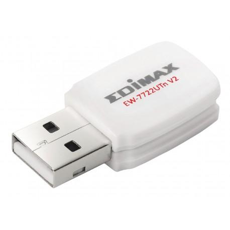 Edimax Draadloze USB-Adapter N300 2.4 GHz Wit