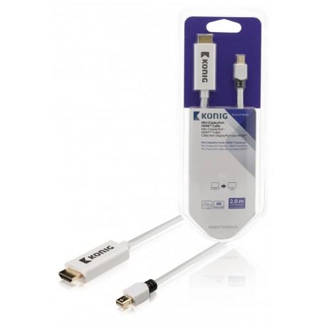 Konig Mini DisplayPort naar HDMI (2 Meter)