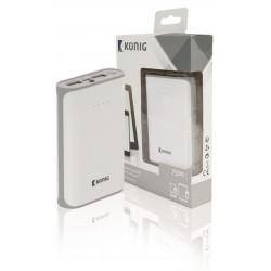 Konig 7500mAh compacte powerbank voor o.a. tablet en smartphone (wit)