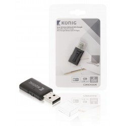 Konig N300 WLAN USB 2.0 dongle 300 Mbps (draadloos internet)