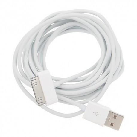 Apple iPhone, iPad en iPod USB Data Kabel (5 meter)
